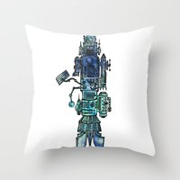 spaceship Throw Pillows featuring Spaceship  by Joseph Kennelty