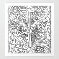 ben giles Art Prints featuring St Giles by Fiorella Modolo