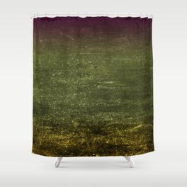Gold, Emerald & Magenta Ombre Canvas Shower Curtain