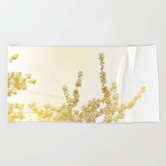Sunlit Cherry Blossoms - Dreamy Floral Photography - Flower Art Prints, Apparel, Accessories... Beach Towel