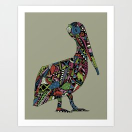 Shafted Pelican Art Print