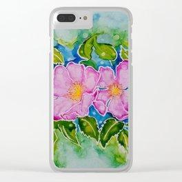 Alberta Wild Rose Clear iPhone Case