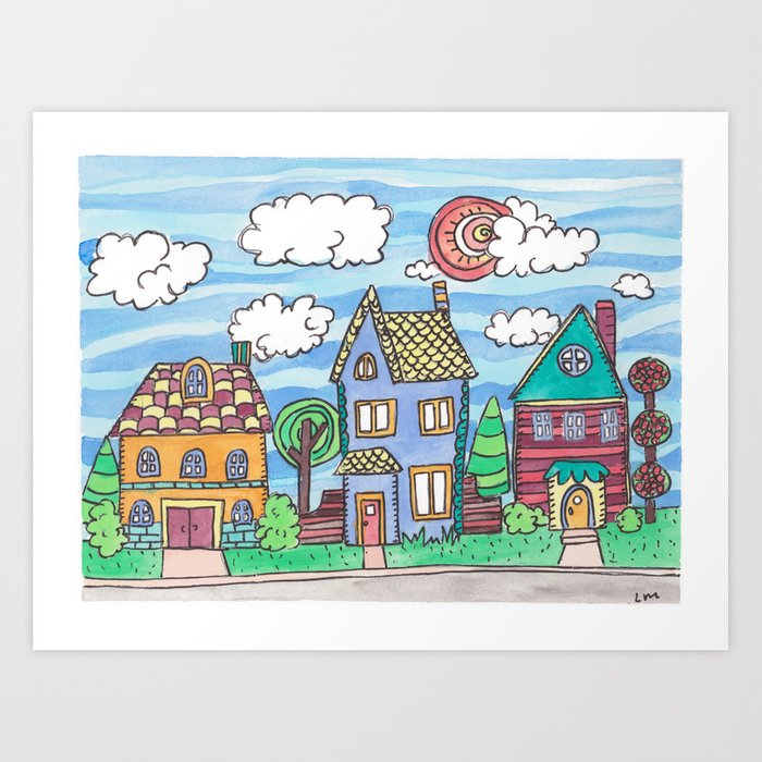 Welcome to the Nieghborhood Art Print