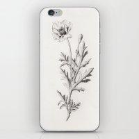 poppy iPhone & iPod Skins featuring Poppy by La Scarlatte