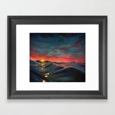 Before The Night Storm Framed Art Print