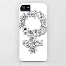 Feminist Flower  2.0 iPhone Case