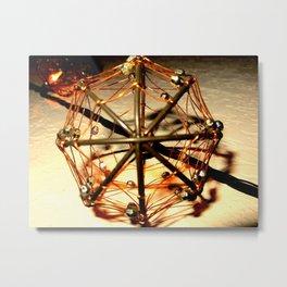 Warm Octagonals Metal Print