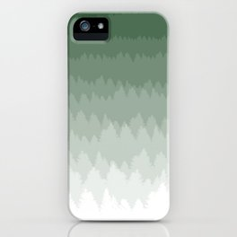 Green Ombré Forest iPhone Case