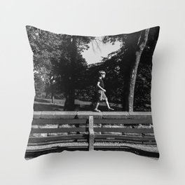 Park Slope Stroll Throw Pillow