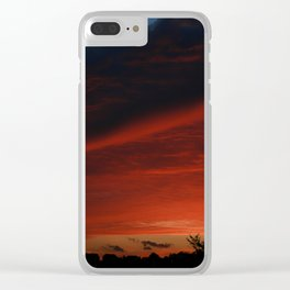 Sunset in Red Clear iPhone Case