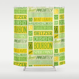 Mint Julep Shower Curtain