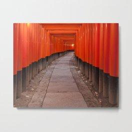 Fushimi Inari Shrine, Kyoto, Japan Metal Print