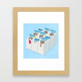 Racoons Framed Art Print