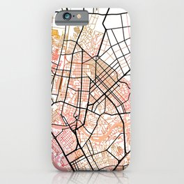 Manila Philippines Watercolor Street Map Color iPhone Case