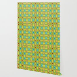 Groovy 70's Flower Power Wallpaper