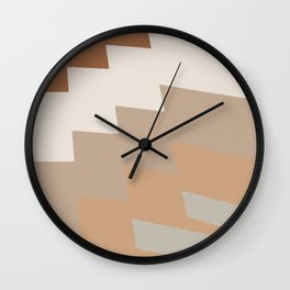 Neutral scale tile Wall Clock