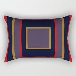 INDIGO BLUE WITH RED + YELLOW OPTICS Rectangular Pillow