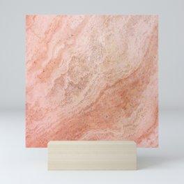 Polished Rose Gold Marble Mini Art Print