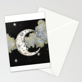 Man in the Moon Painting Stationery Cards
