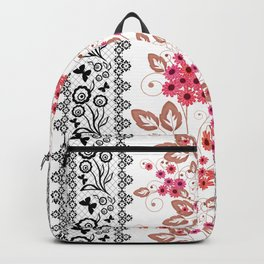 Red flowers . Backpack