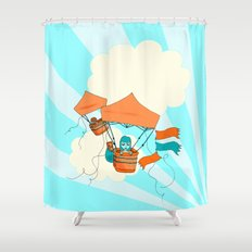 Pop Up Tent Balloons Shower Curtain
