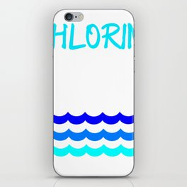 Funny Swimming Chlorine, It's what's for Breakfast Waves iPhone Skin