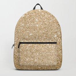 Modern abstract gold gradient elegant glitter Backpack