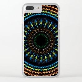 Decorative tribal Mandala artwork Clear iPhone Case