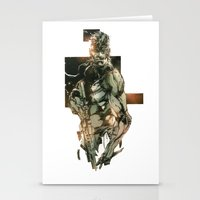 metal gear Stationery Cards featuring Metal Gear Solid 5 by Hisham Al Riyami