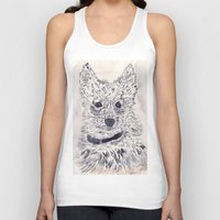 puppy Tank Tops featuring Puppy by echoes