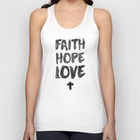 pocketfuel Tank Tops featuring Faith Hope Love by Pocket Fuel