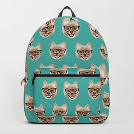 Pomeranian dog breed hipster glasses intellectual dog lover with personality Backpack