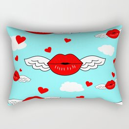 Blow a kiss  Rectangular Pillow