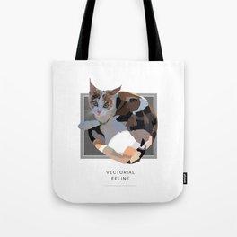 Vectorial Feline Tote Bag