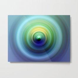 Aqua and Emerald Swirl Metal Print