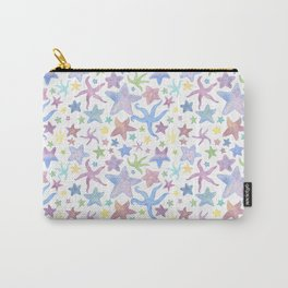 Watercolor Starfish Pattern - Pastel Carry-All Pouch