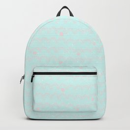 Merry aqua christmas - Funny abstract lines and dots on turquoise backround Backpack