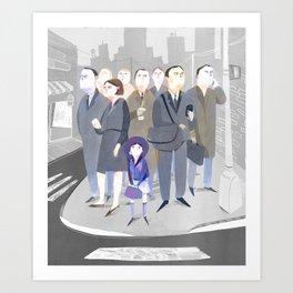 Tokyo Commute Art Print