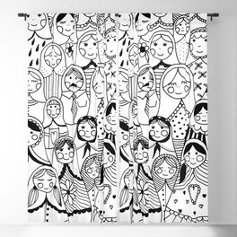 Matrioshka doodle Blackout Curtain