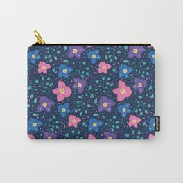 Veronica flower pattern (blue variation) Carry-All Pouch