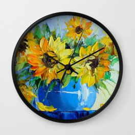 Bouquet of sunflowers  Wall Clock