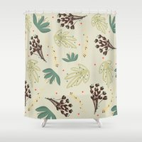 leaf Shower Curtains featuring leaf by Ceren Aksu Dikenci