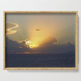 Sunset, Amalphi coast, Italy 2 Serving Tray