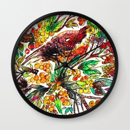 Cinnamon Dove Wall Clock