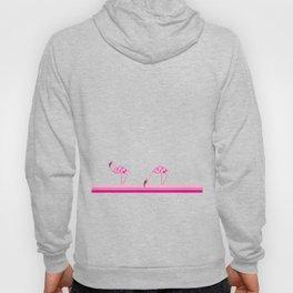 Pink flamingo pixel Hoody