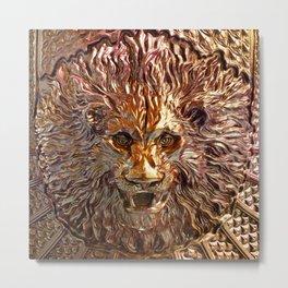 Golden Leo Metal Print