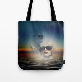the couple of the lake Tote Bag