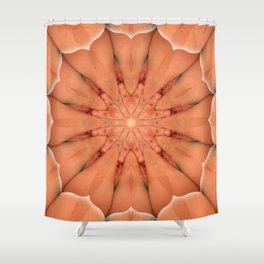 Intimate Sexual Mandala Nude Female Naked Body Closeup Vulva Abstracted Sensual Sexy Erotic Art Shower Curtain