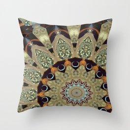Fractal Scorpion Flower Mandala 20 Throw Pillow