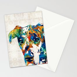 Colorful Great Dane Art Dog By Sharon Cummings Stationery Cards